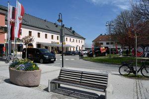 Am 28. April 2021 wurde vor dem Hauptbahnhof Wörgl die neue Bike Tirol Rad-Verleihstation präsentiert. Foto: TVB Ferienregion Hohe Salve
