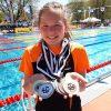Gratulation! Lotta Kaindl vom Schwimmclub Wörgl holte bei 7 Starts 7 Medaillen! Foto: Simone Aufinger