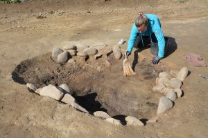 Archäologische Ausgrabung der Wörgler Firma Talpa am Egerndorfer Feld im Mai 2021. Foto: Veronika Spielbichler