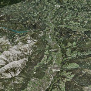 Das Projektgebiet des Hochwasserschutzes im Mittleren und Unteren Unterinntal reicht von Terfens bis nach Angath und umfasst in Summe 20 Gemeinden, die nunmehr in zwei Wasserverbänden zur Planung und Errichtung der Schutzmaßnahmen organisiert sind. Foto: Land Tirol