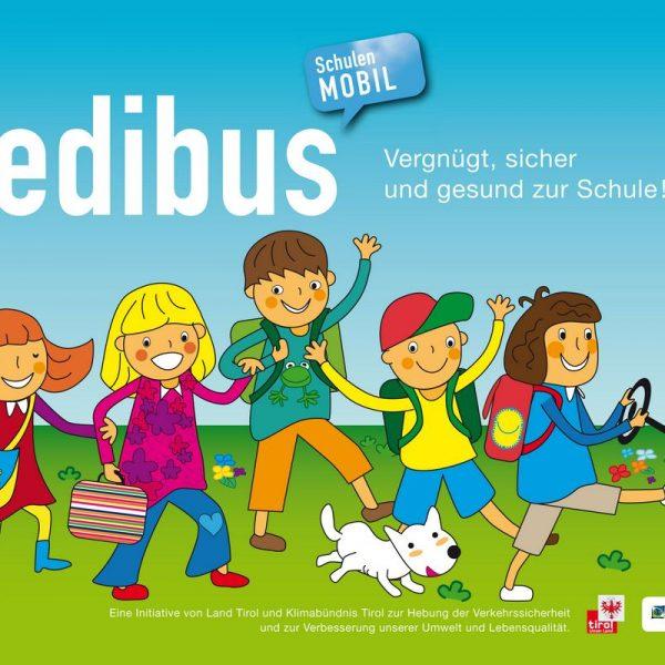 Im Herbst 2021 soll in Wörgl das Projekt Pedibus starten. Foto: Logo Pedibus/Klimabündnis Tirol