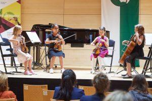 Das erfolgreiche Streichquartett Four Fun mit Sophie Winderl, Semiha Aksoy, Lucia Avena und Jana Moser (Foto Land Tirol, Wolfgang Alberty)