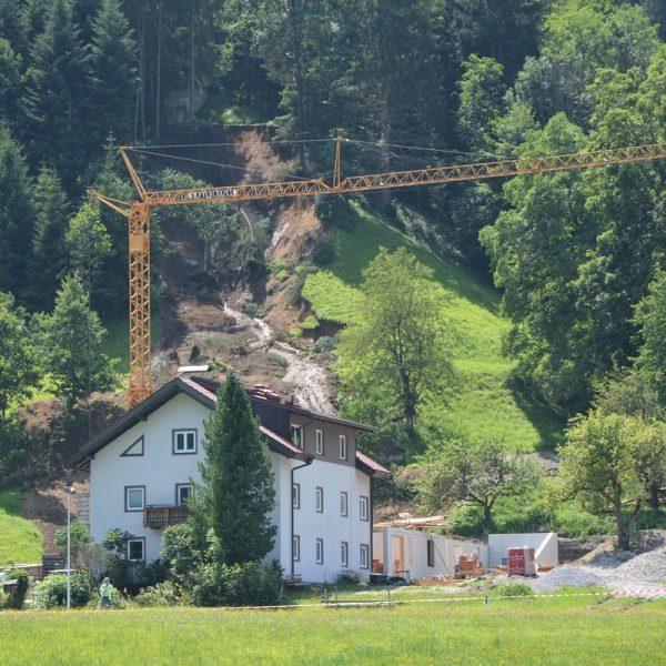 Hangrutschung Pinnersdorf - Wörgl am 22.7.2021. Foto: Veronika Spielbichler