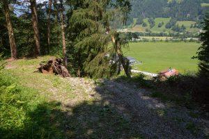 Hangrutschung Pinnersdorf - Wörgl Juli 2021. Foto: Veronika Spielbichler