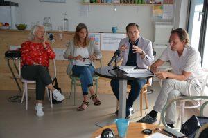 """Komm!unity Pressekonferenz """"Frische Nahrung für Junges Gemüse"""" am 27.7.2021. Foto: Veronika Spielbichler"""