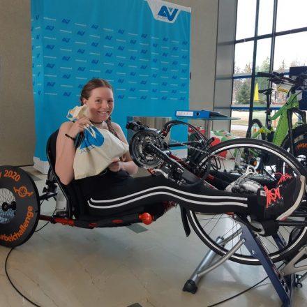 Am Radeln für den guten Zweck beteiligten sich ein Jahr lang MitarbeiterInnen, PatientInnen und BesucherInnen des RZ Bad Häring. Foto: RZ Bad Häring