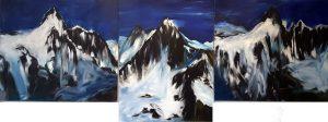 Die Bilderausstellung Bergwelten von Helga Göbel im Tagungshaus Wörgl wird am 17. September 2021 eröffnet. Foto: Göbel