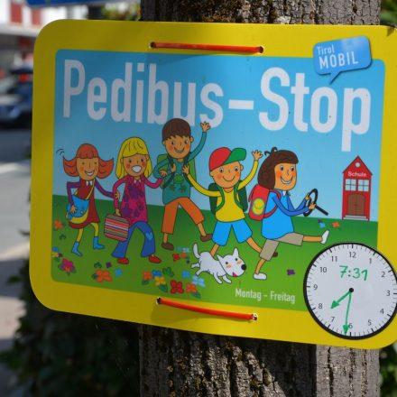 Pedibus-Stop Wörgl. Foto: Veronika Spielbichler
