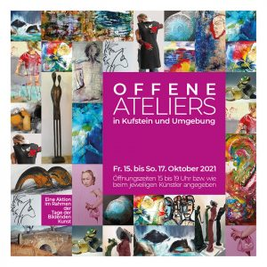 Offene Ateliers in Kufstein und Umgebung - Flyer.