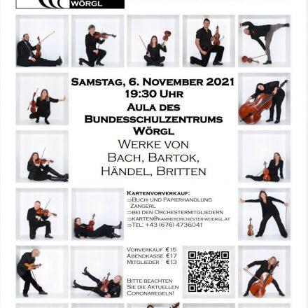 Konzert Kammerorchester Wörgl am 6.11.2021. Foto: Kammerorchester Wörgl