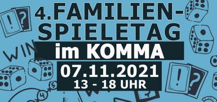 Familienspieletag im Komma 2021. Foto: Komma Wörgl