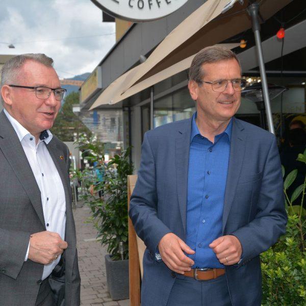 Arbeitstreffen Wir für Wörgl am 30.9.2021 mit LR Johannes Tratter. Foto: Veronika Spielbichler