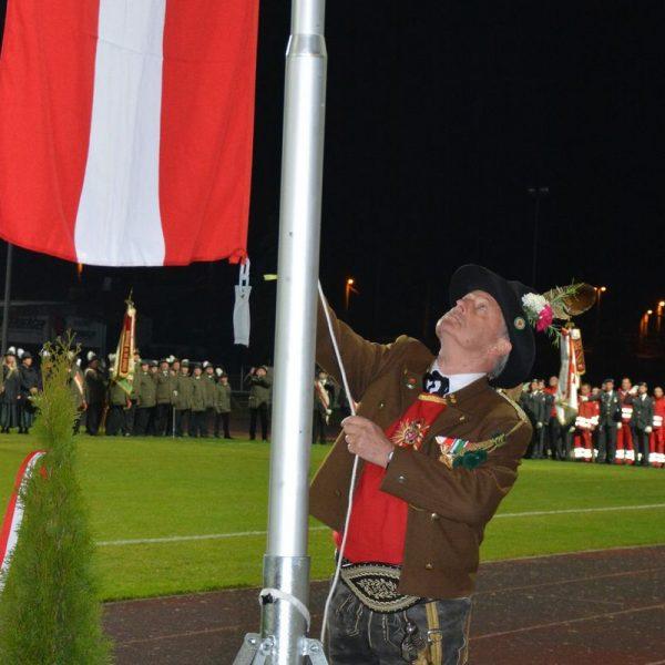 Zapfenstreich Traditionsforum Wörgl 25.10.2021. Foto: Veronika Spielbichler